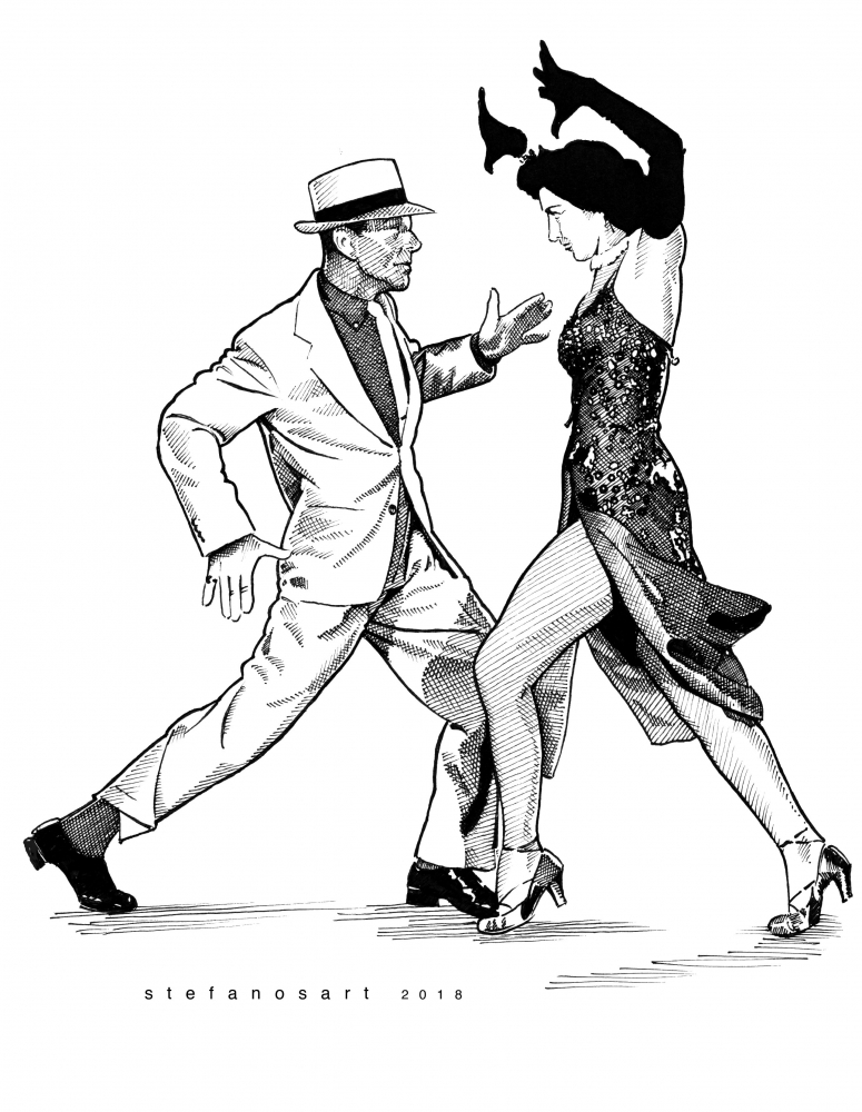 Cyd Charisse, Fred Astaire by Stefanosart